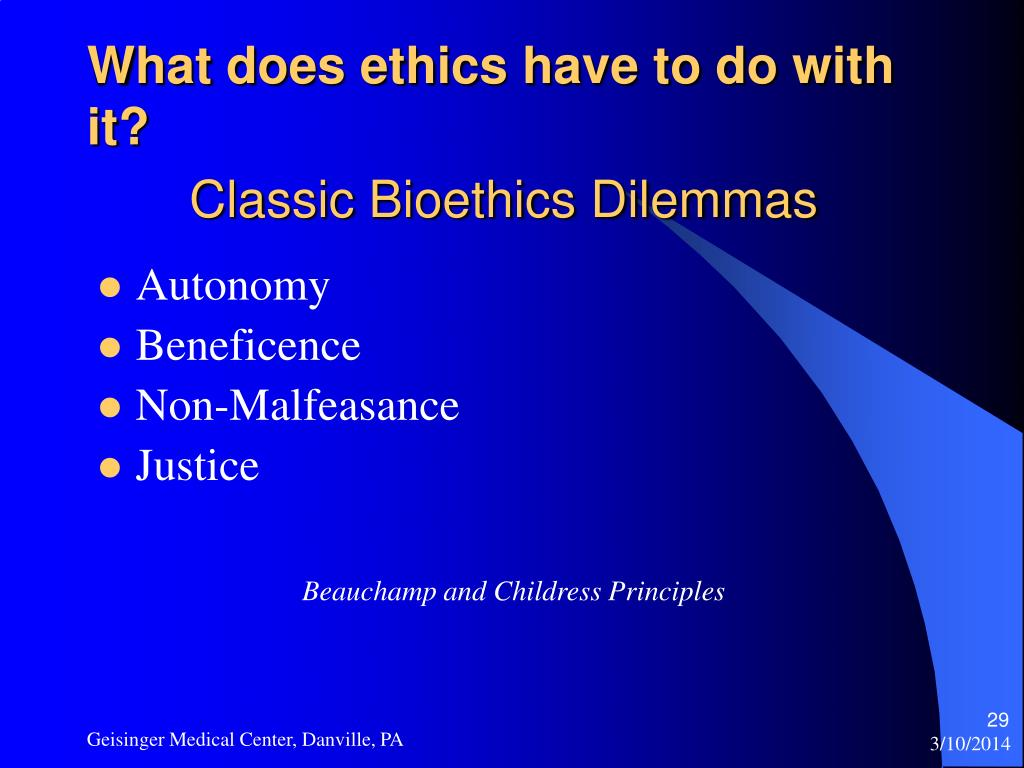 What does ethics have to do with it?