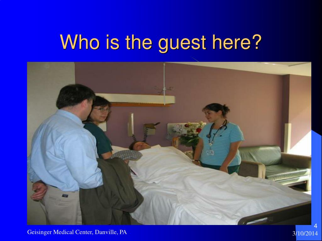 Who is the guest here?