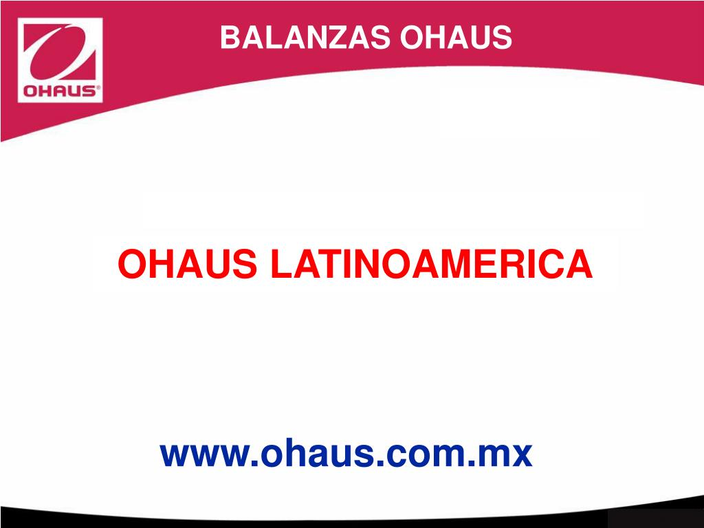 BALANZAS OHAUS