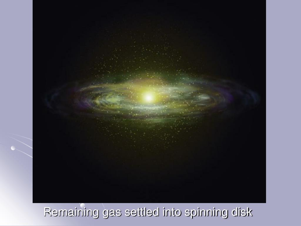 Remaining gas settled into spinning disk