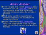 author analyzer