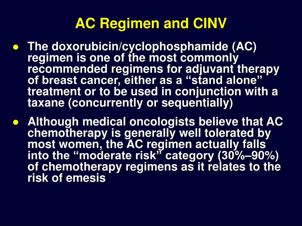 AC Regimen and CINV