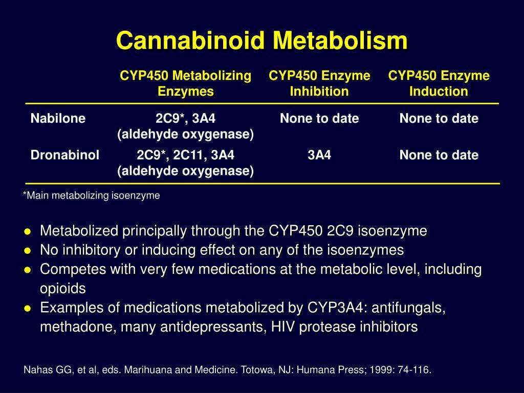 Cannabinoid Metabolism