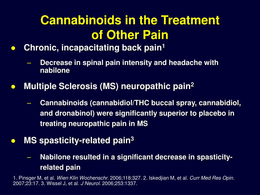 Cannabinoids in the Treatment