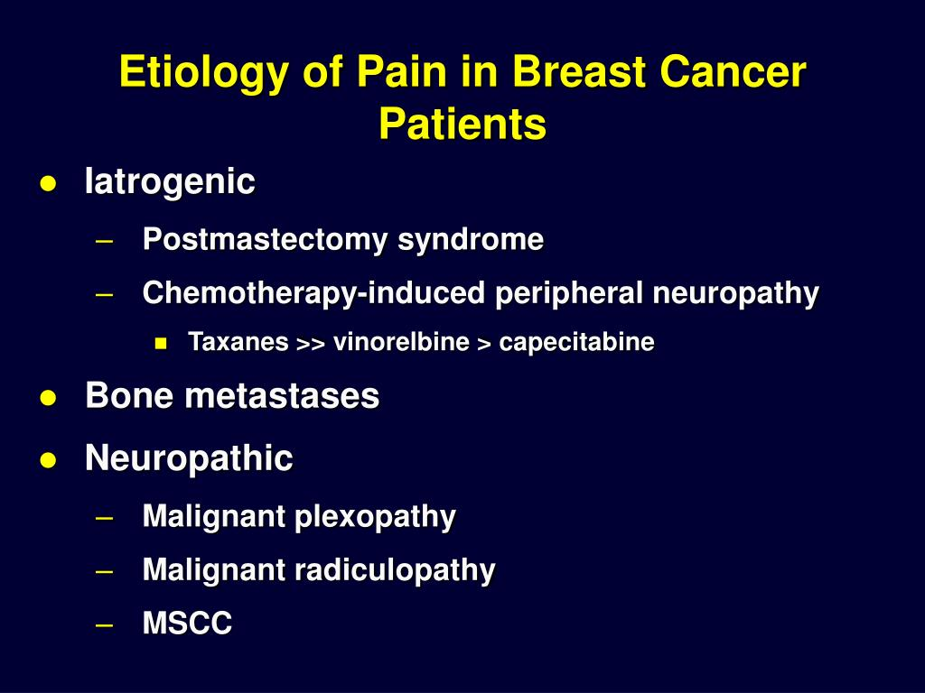 Etiology of Pain in Breast Cancer Patients
