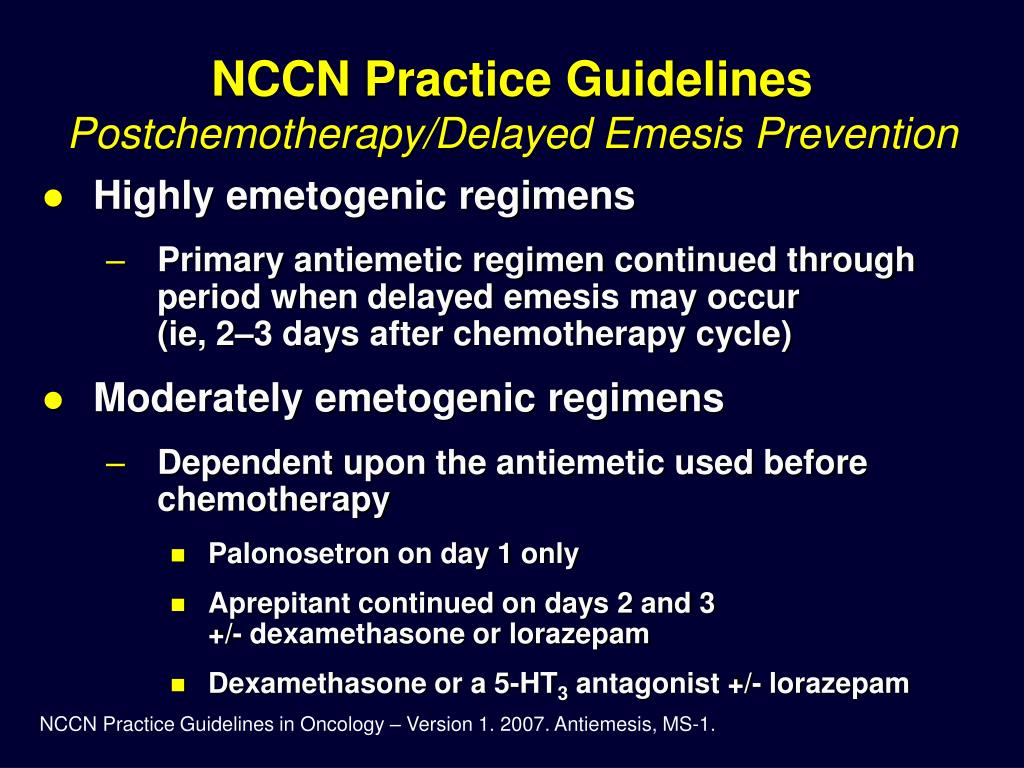 NCCN Practice Guidelines
