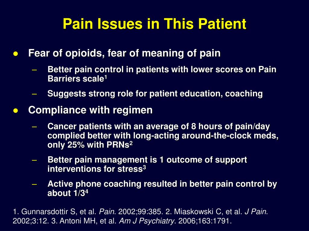 Pain Issues in This Patient