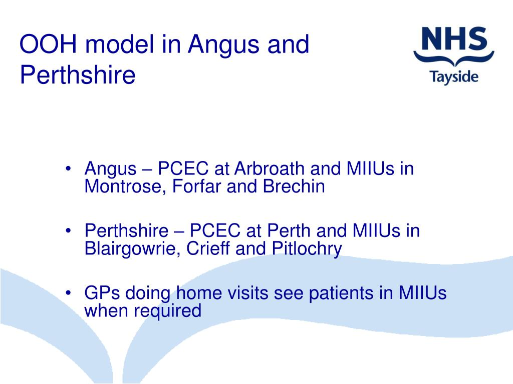 OOH model in Angus and Perthshire