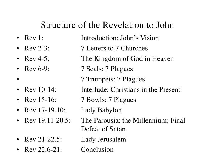 Structure of the Revelation to John