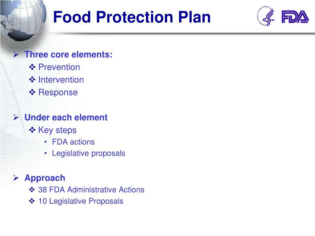 Food Protection Plan
