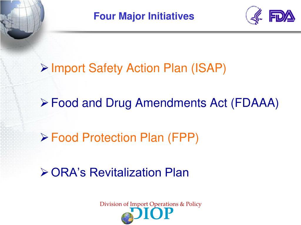 Four Major Initiatives