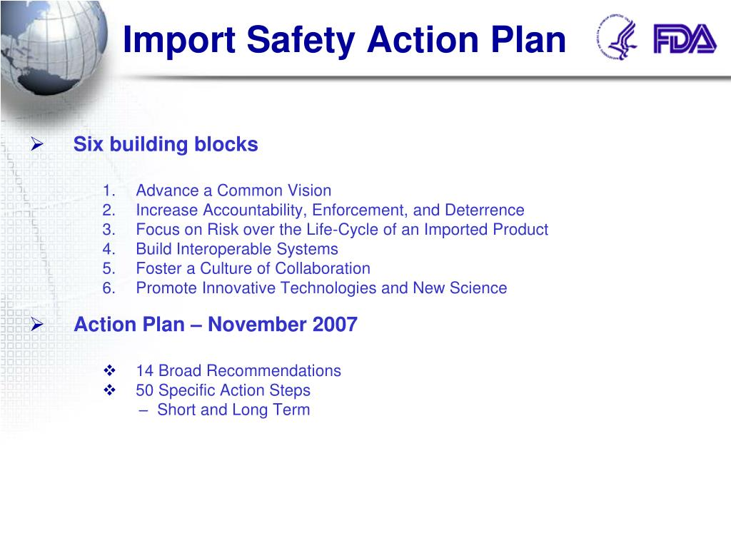 Import Safety Action Plan