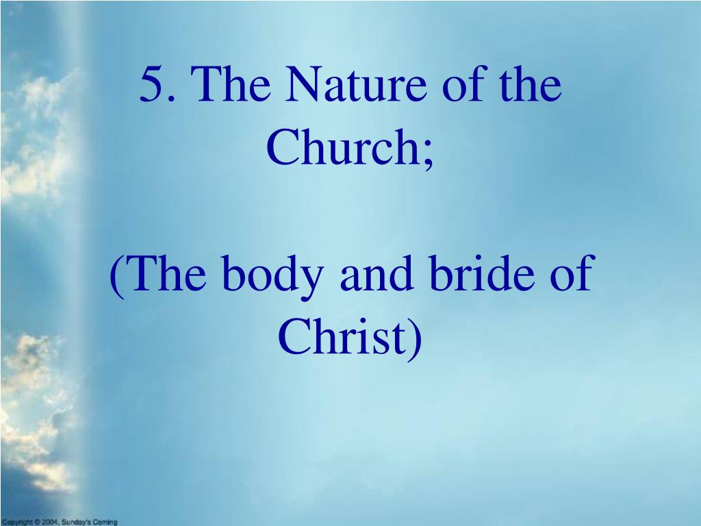 5. The Nature of the Church;