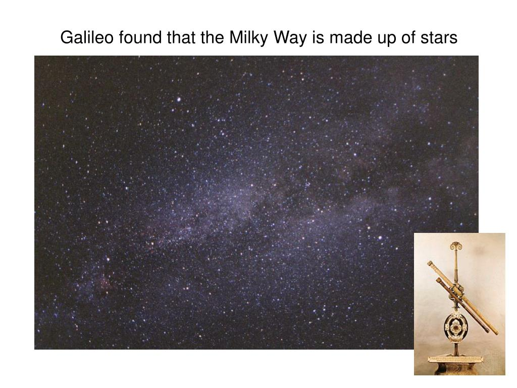 Galileo found that the Milky Way is made up of stars