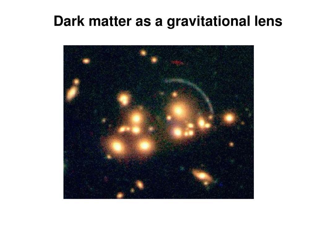 Dark matter as a gravitational lens