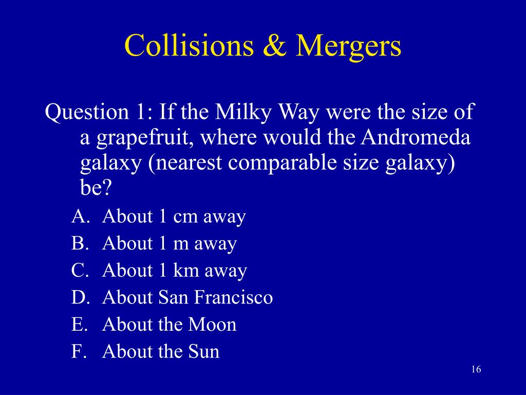 Collisions & Mergers