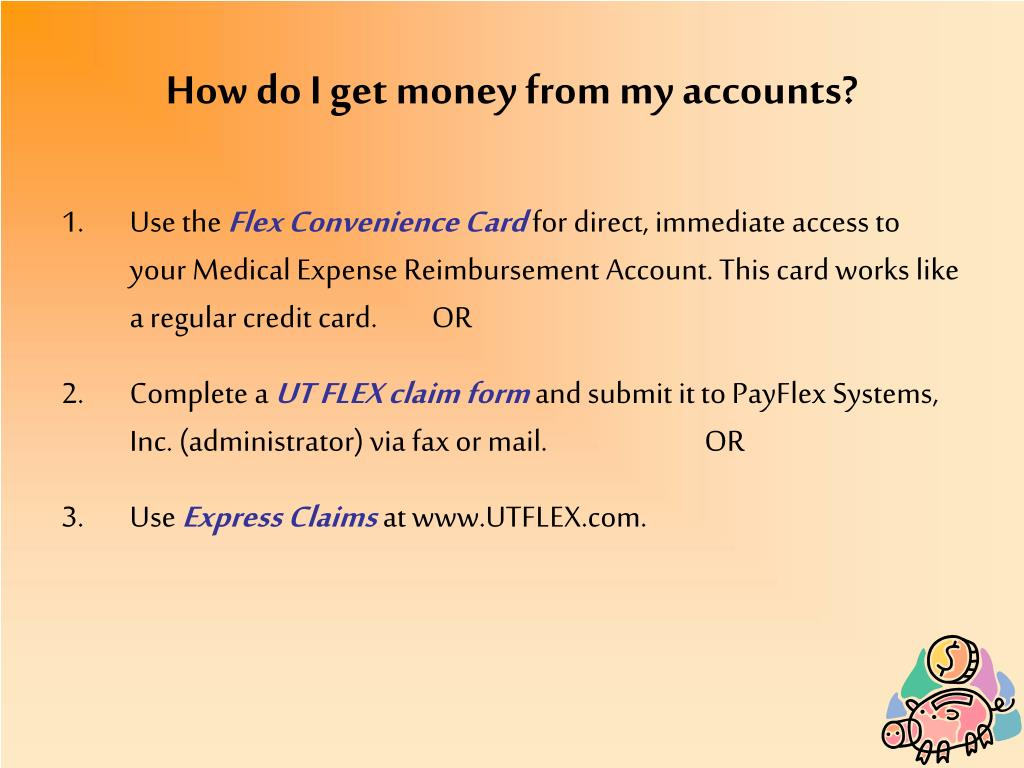 How do I get money from my accounts?