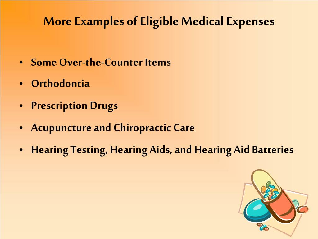 More Examples of Eligible Medical Expenses