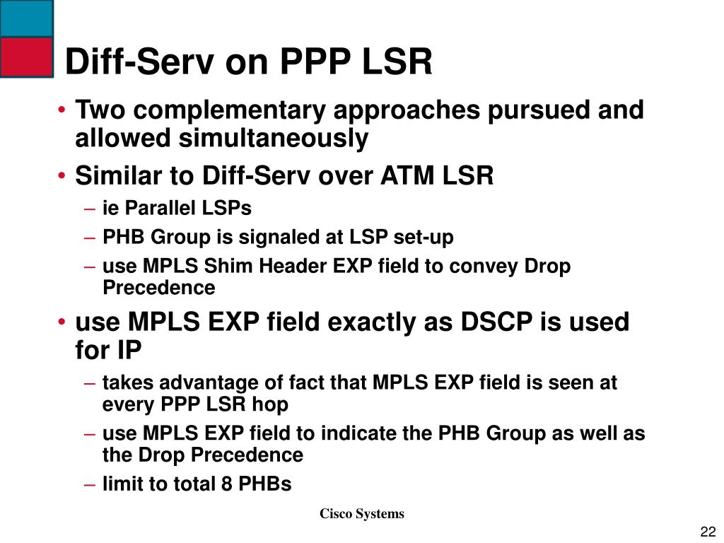 Diff-Serv on PPP LSR