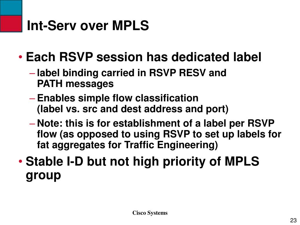 Int-Serv over MPLS