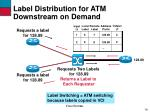 label distribution for atm downstream on demand