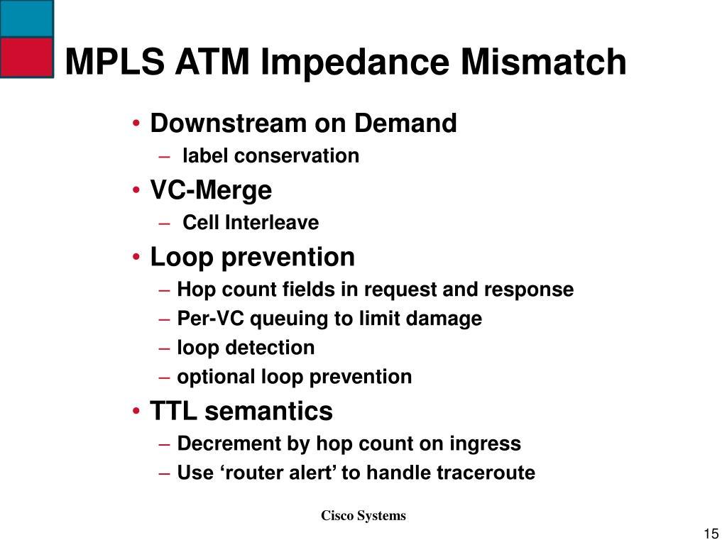 MPLS ATM Impedance Mismatch