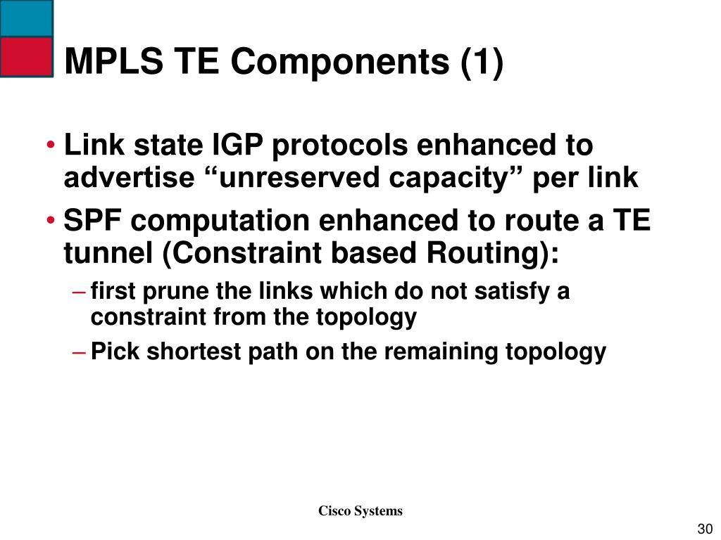 MPLS TE Components (1)