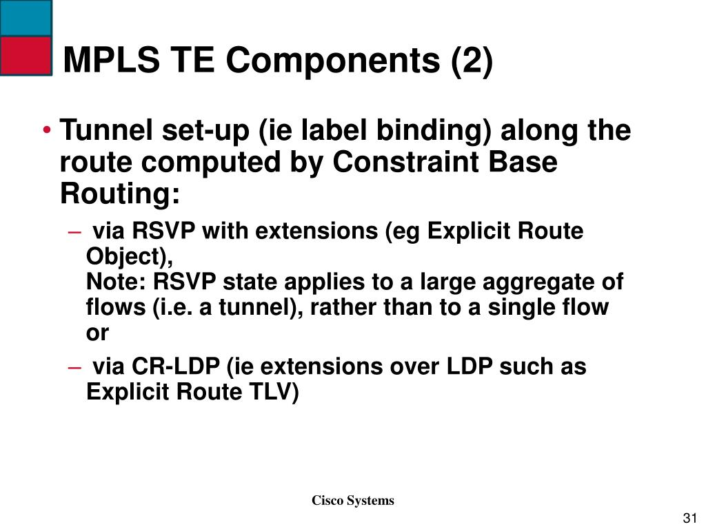 MPLS TE Components (2)