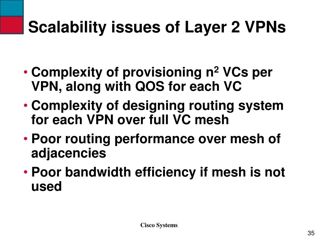 Scalability issues of Layer 2 VPNs