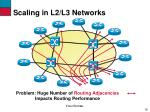 scaling in l2 l3 networks