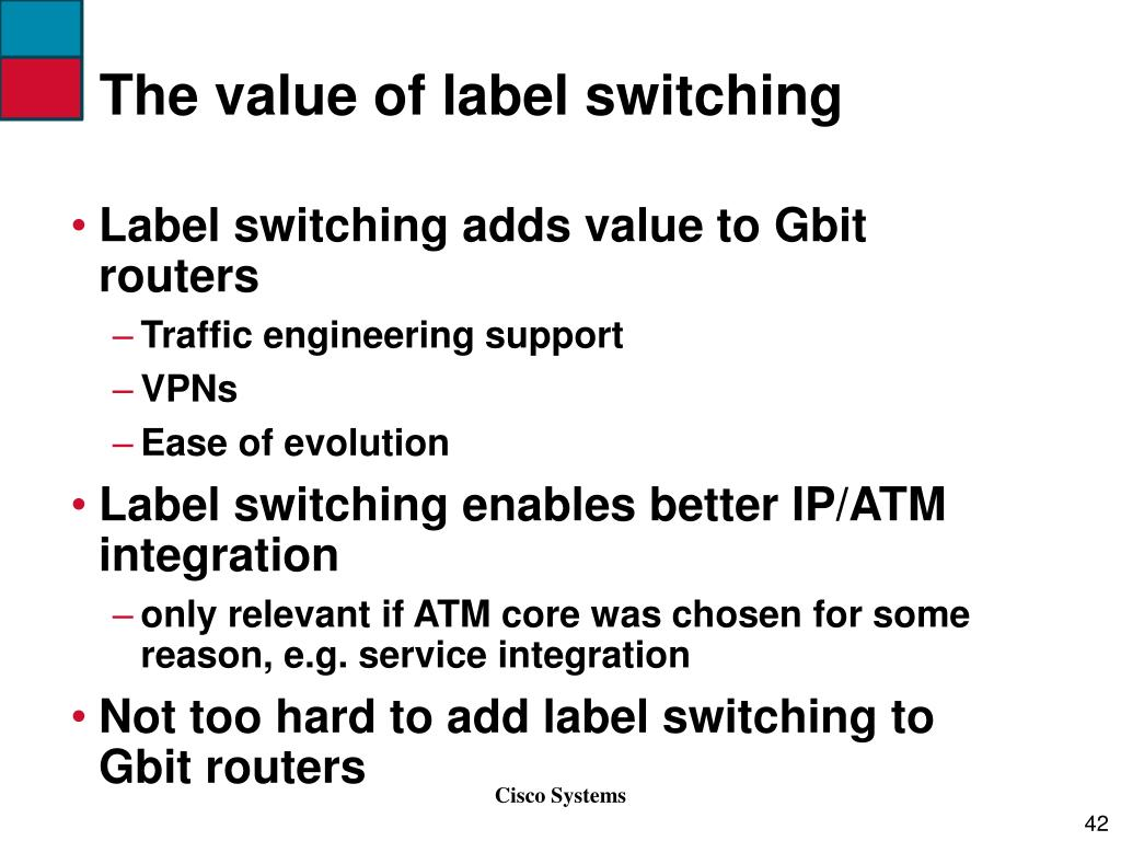 The value of label switching