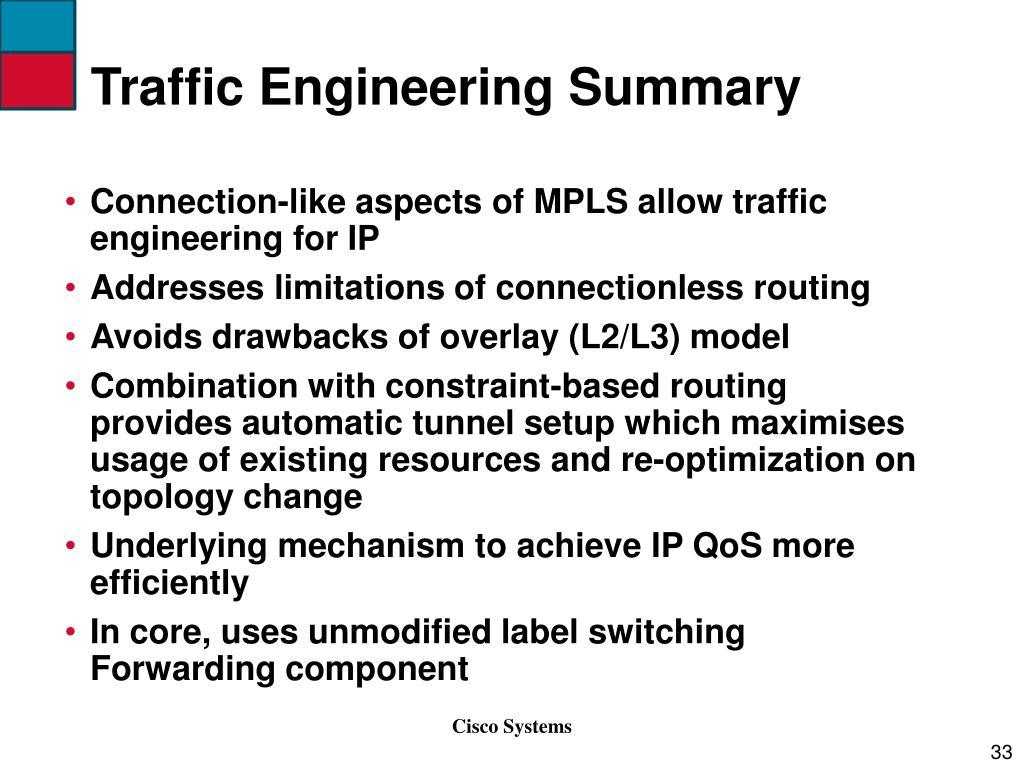 Traffic Engineering Summary