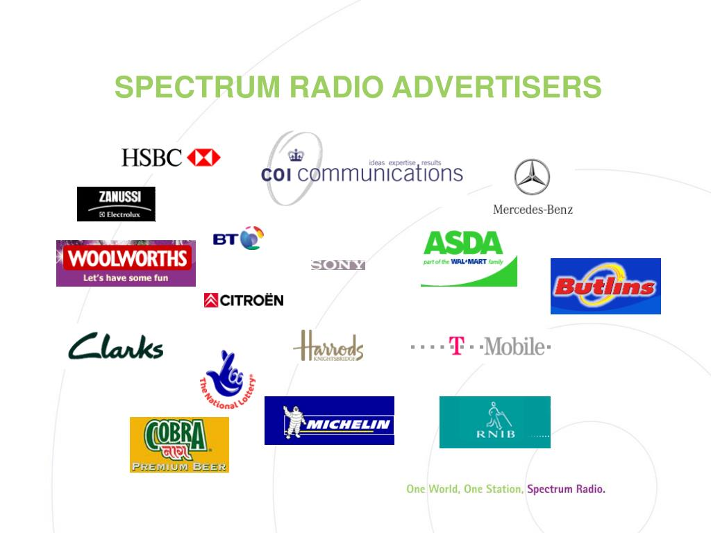 SPECTRUM RADIO ADVERTISERS