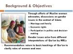 background objectives