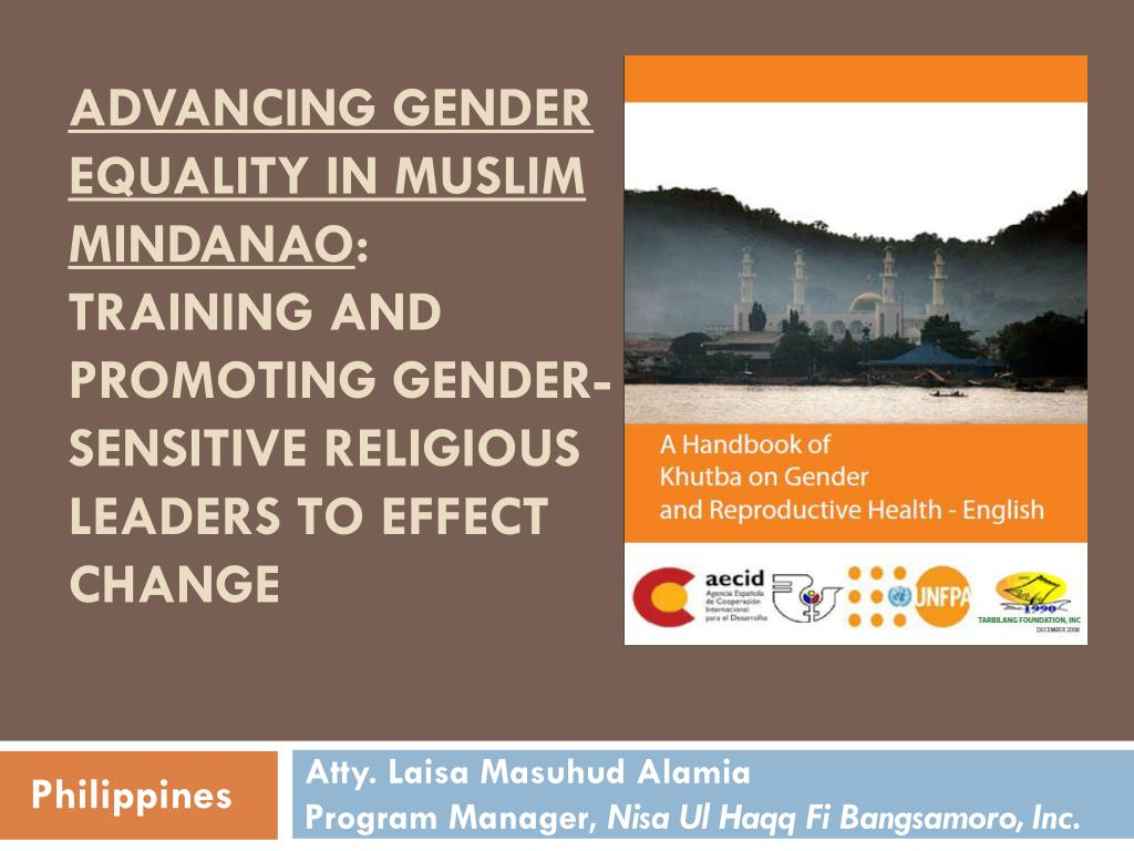 Advancing Gender Equality in Muslim Mindanao