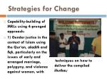 strategies for change10