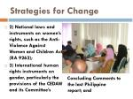 strategies for change11