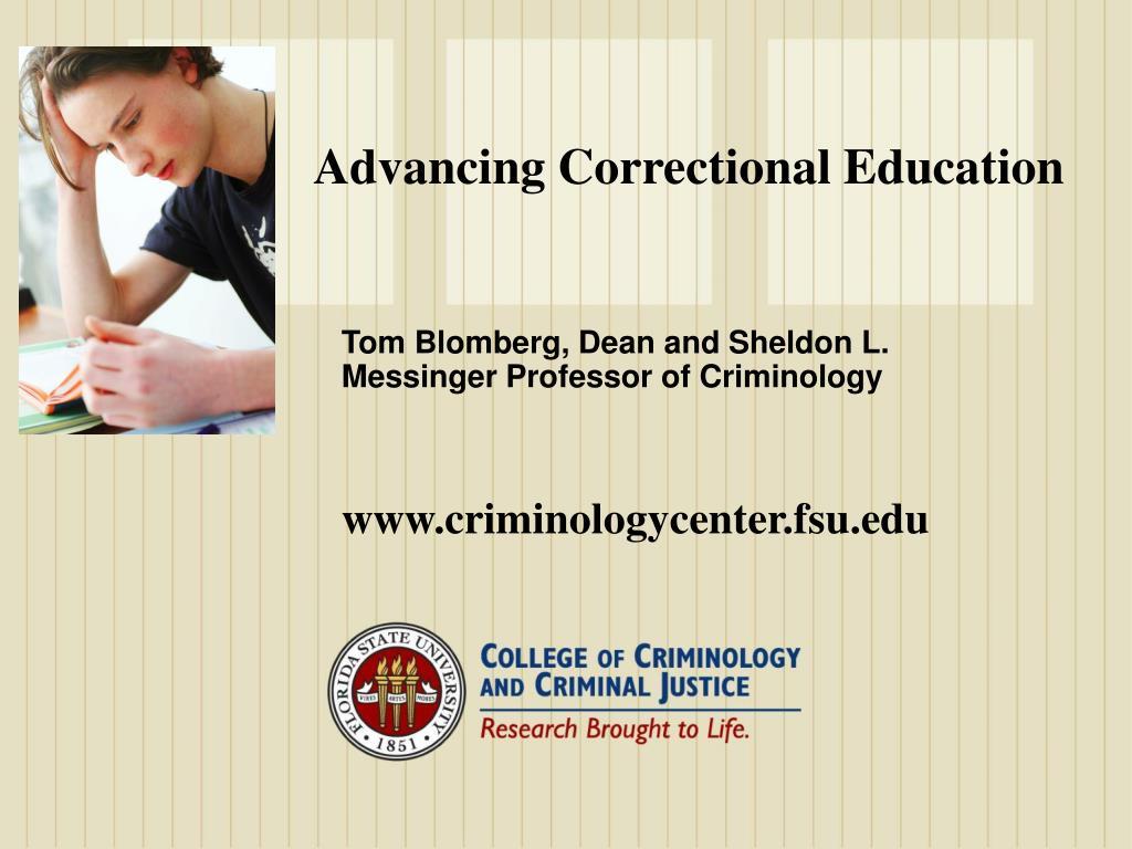 Advancing Correctional Education