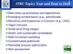 itrc topics near and dear to dod