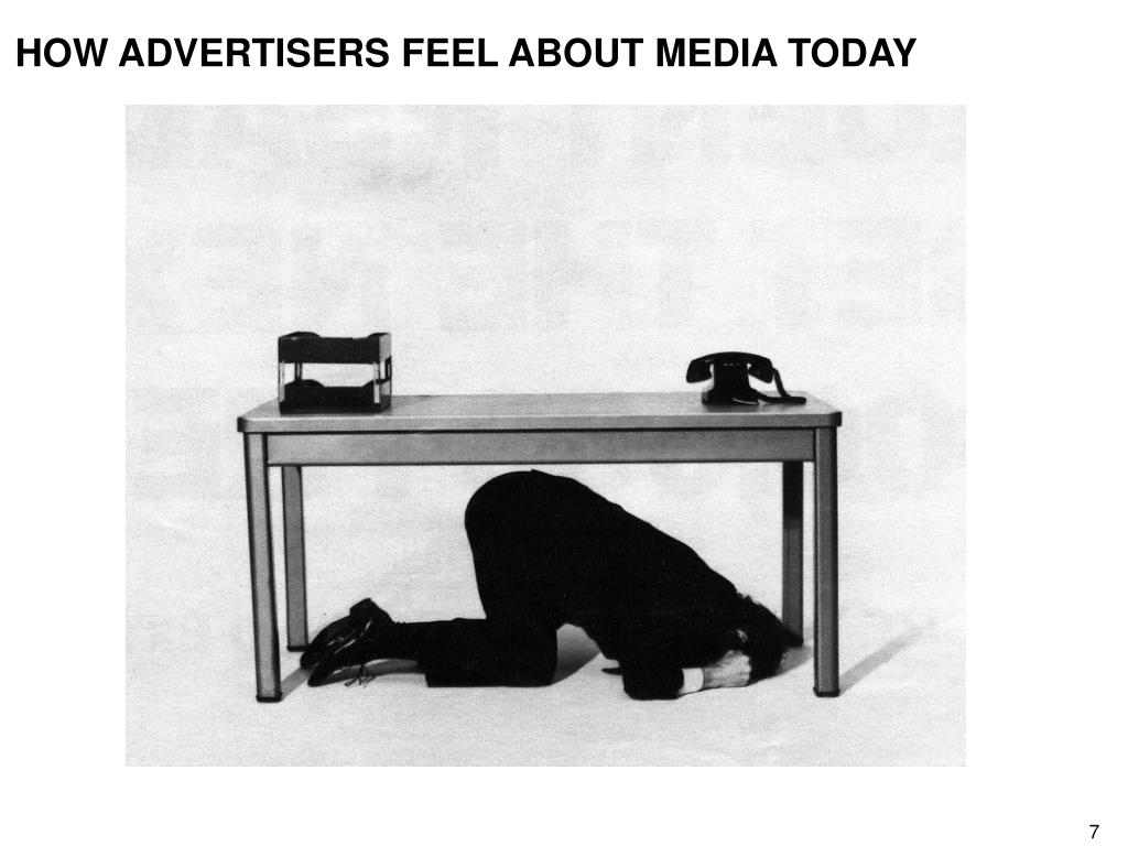 HOW ADVERTISERS FEEL ABOUT MEDIA TODAY