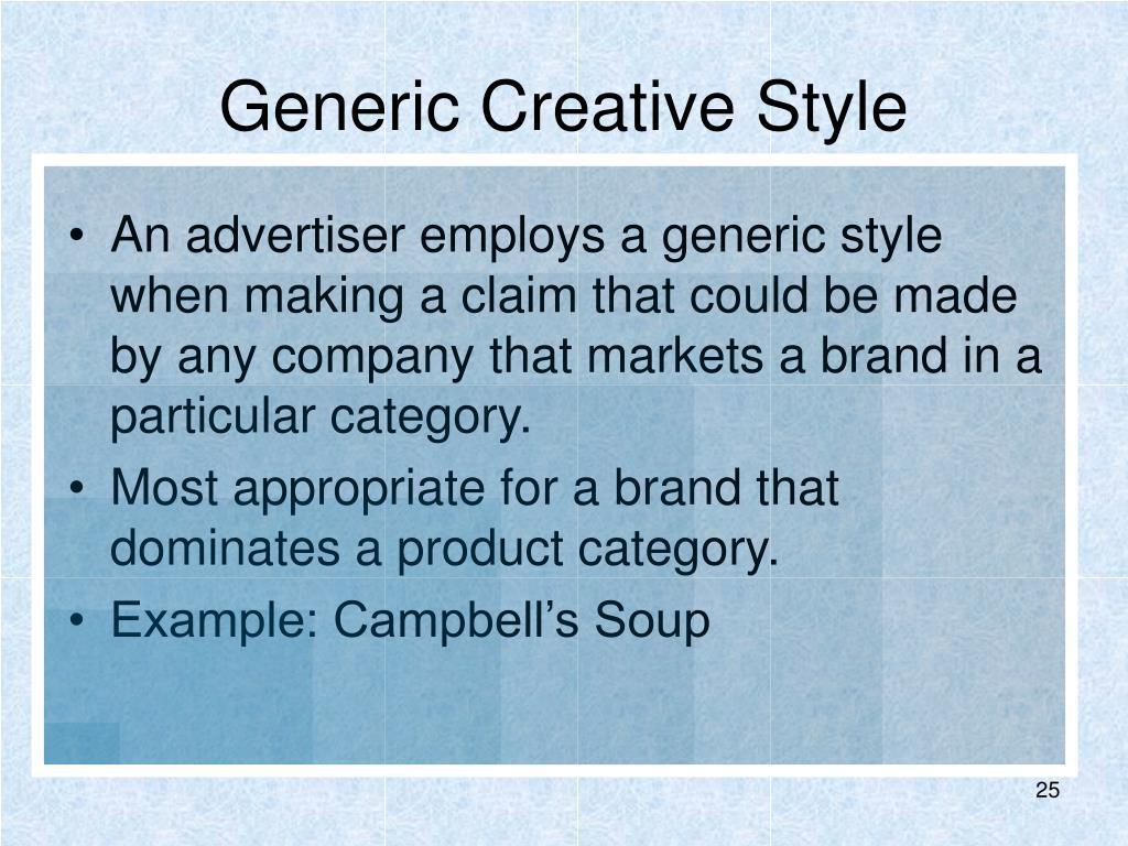 Generic Creative Style