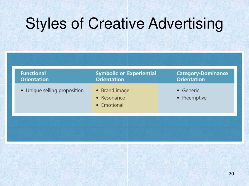 Styles of Creative Advertising
