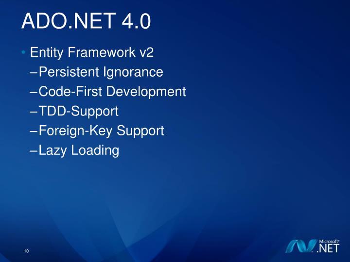 ADO.NET 4.0