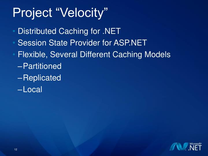 "Project ""Velocity"""