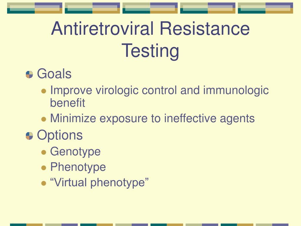 Antiretroviral Resistance Testing
