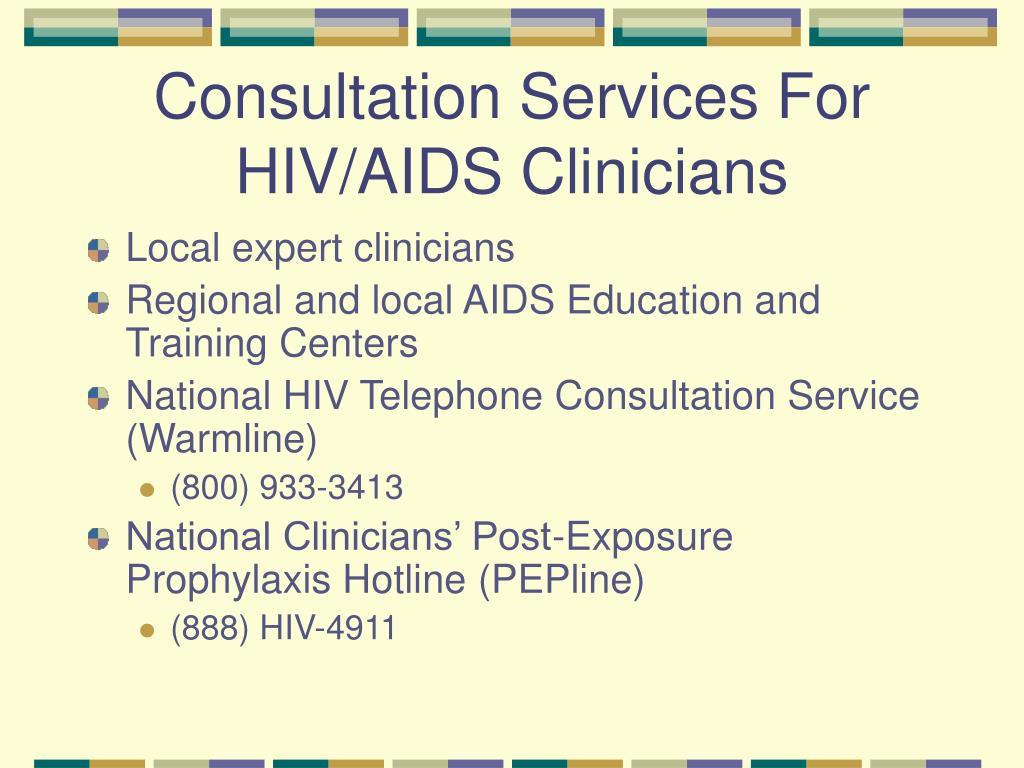 Consultation Services For HIV/AIDS Clinicians