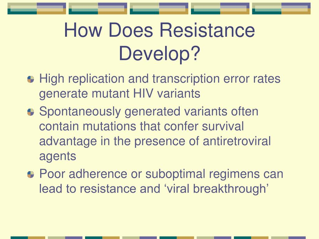 How Does Resistance Develop?
