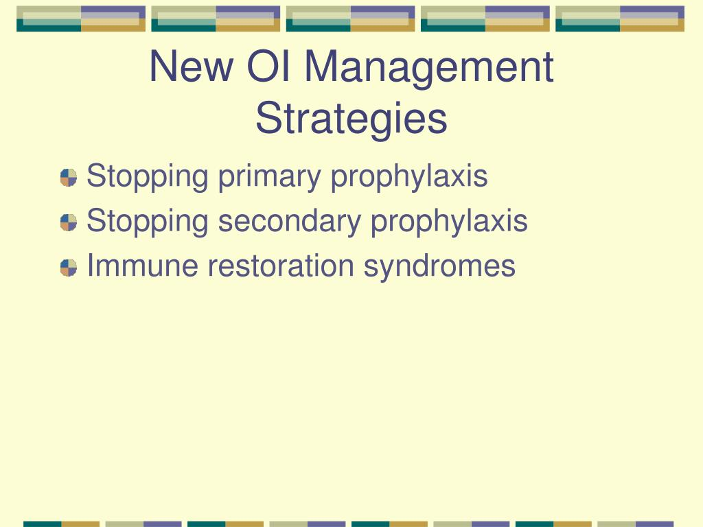 New OI Management Strategies