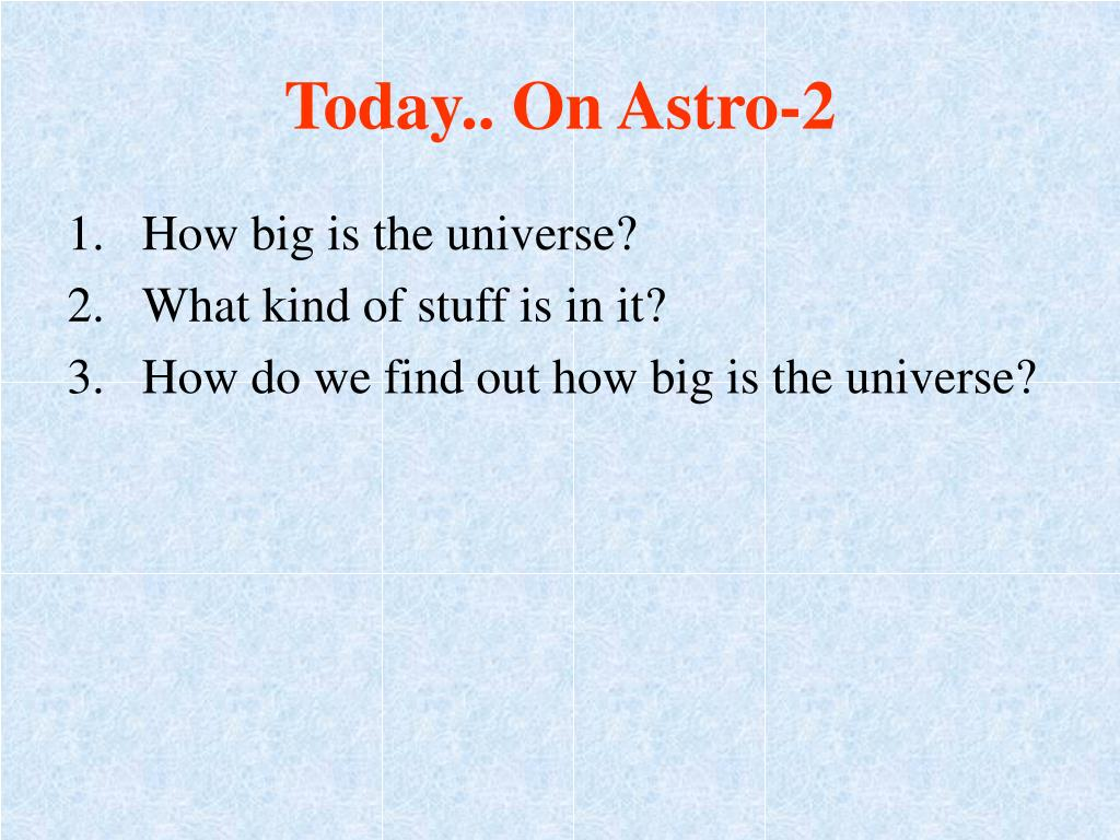 Today.. On Astro-2