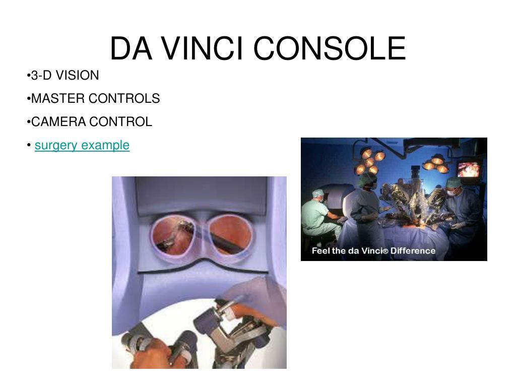 DA VINCI CONSOLE